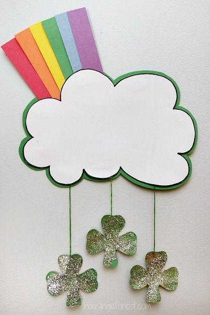 """<p>Rainbows and glitter are the perfect combo for an <a href=""""https://www.womansday.com/home/crafts-projects/"""" rel=""""nofollow noopener"""" target=""""_blank"""" data-ylk=""""slk:easy, kid-friendly craft"""" class=""""link rapid-noclick-resp"""">easy, kid-friendly craft</a>.</p><p><em>Get the tutorial at <a href=""""http://www.housingaforest.com/rainbow-cloud-craft/"""" rel=""""nofollow noopener"""" target=""""_blank"""" data-ylk=""""slk:Housing a Forest"""" class=""""link rapid-noclick-resp"""">Housing a Forest</a>.</em> </p>"""