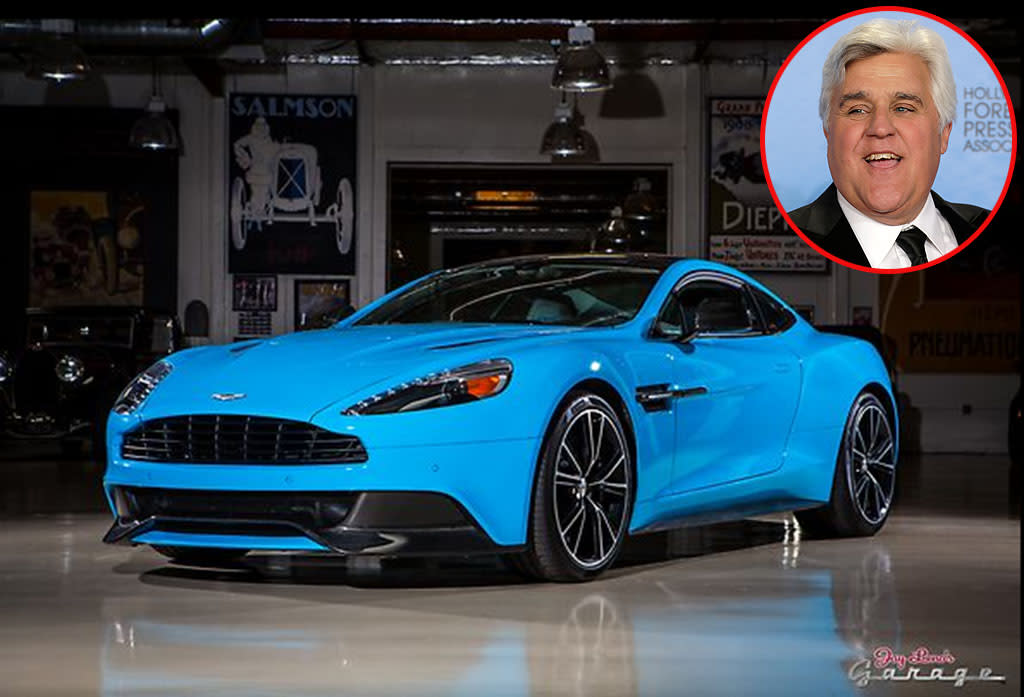 "<strong>Jay Leno </strong><br /><strong>Aston Martin Vanquish </strong><br /><strong>Approximate Base Prices: $280,000</strong><br />Jay Leno is about as big of a car connoisseur as they come and there are plenty of gorgeous vehicles in his collection. But this Aston Martin seems extra special, and was even called by the company itself ""the greatest Aston Martin in history."" Jay seems to agree. ""It's just a beautiful piece of kinetic sculpture,"" Jay said on his web series <a href=""http://www.jaylenosgarage.com/"">Jay Leno's Garage</a>. ""Everyone should get a chance to drive a car like this."" Gee, thanks, Jay. We won't hold our breath. <br /><br /> <div style=""overflow: hidden; color: #000000; background-color: #ffffff; text-align: left; text-decoration: none;""><br /><br /></div>"