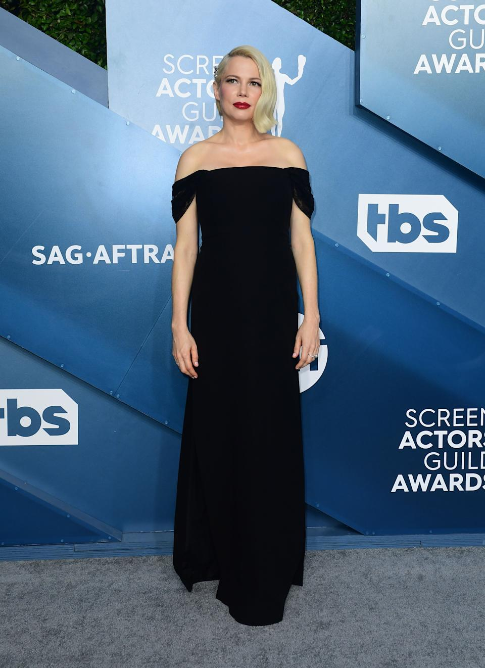 """<h2>Michelle Williams in Louis Vuitton</h2><br>No one does classic Old Hollywood like Michelle Williams — no one. <span class=""""copyright"""">Photo by FREDERIC J. BROWN/AFP via Getty Images.</span>"""