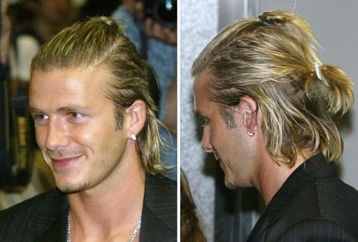 David Beckham has never shied away from a fashion challenge, be it sarongs, alice bands, cornrows or platinum blonde crowns a'la Marilyn Monroe. He also once paid GBP300 to get his head shaved. Some folk have more money than sense...