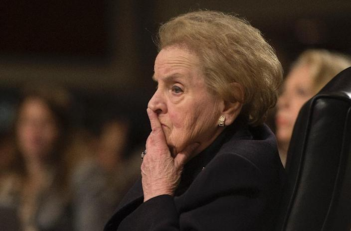 Former US secretary of state Madeleine Albright, pictured on January 29, 2025, and a coterie of veteran diplomats are calling for major changes to the United Nations in a report released ahead of the world body's 70th anniversary (AFP Photo/Jim Watson)