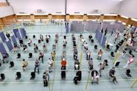 Japan has now opened its first mass vaccination centres