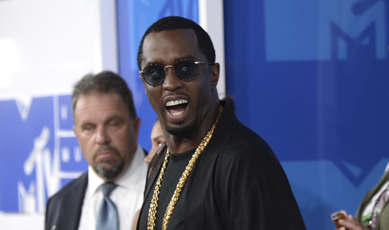 """<p> FILE - In this Aug. 28, 2016, file photo, Sean """"Diddy"""" Combs arrives at the MTV Video Music Awards at Madison Square Garden in New York. On June 12, 2017, Forbes named Combs the top earner its list of the 100 highest paid celebrities. (Photo by Evan Agostini/Invision/AP, File) </p>"""