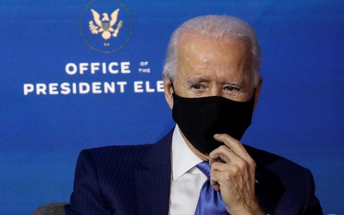 U.S. President-elect Joe Biden regularly wears a mask - Reuters