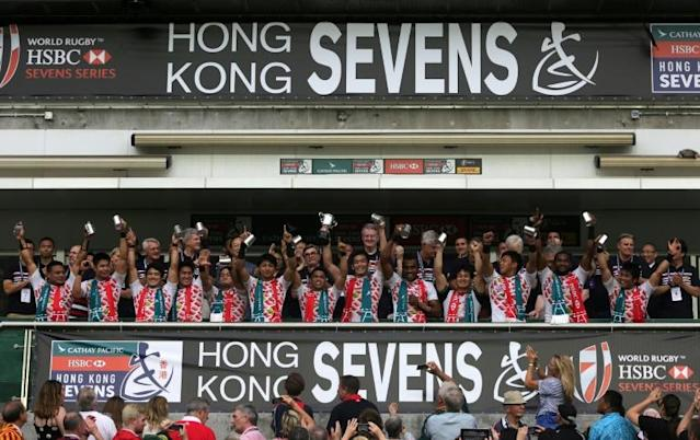 The Hong Kong Sevens is the city's flagship sporting event (AFP Photo/Isaac LAWRENCE)