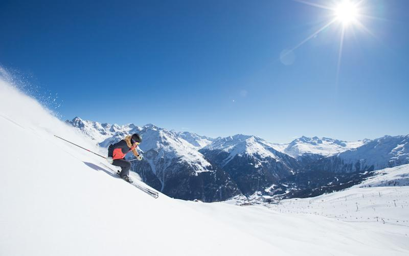 Ensure your next trip to the mountains is a white one with snow-sure resorts like Sölden