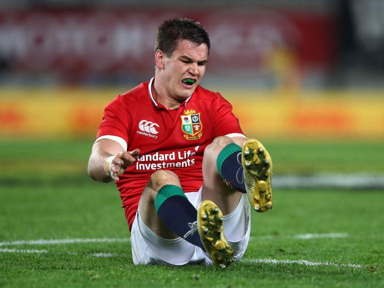 Johnny Sexton played final Lions Test against New Zealand with broken wrist and ruptured ankle tendon