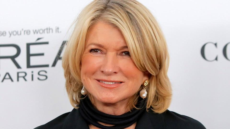 Martha Stewart poses in the latest issue of Harpers Bazaar. (Image via Getty Images)