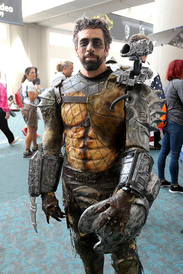 <p>Cosplayer dressed as Predator at Comic-Con International on July 20 in San Diego. (Photo: Angela Kim/Yahoo Entertainment) </p>