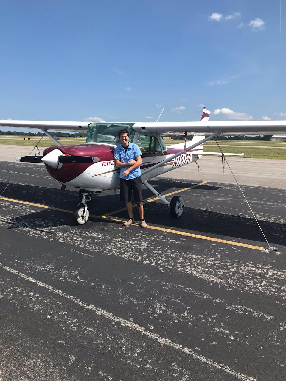 Hayden Pegues, who is a senior at Southern Illinois University majoring in aviation management,  says at the beginning of the pandemic, his food insecurity was exacerbated after he left his construction job and was no longer eligible for SNAP food stamps. (Photo Courtesy: Hayden Pegues)