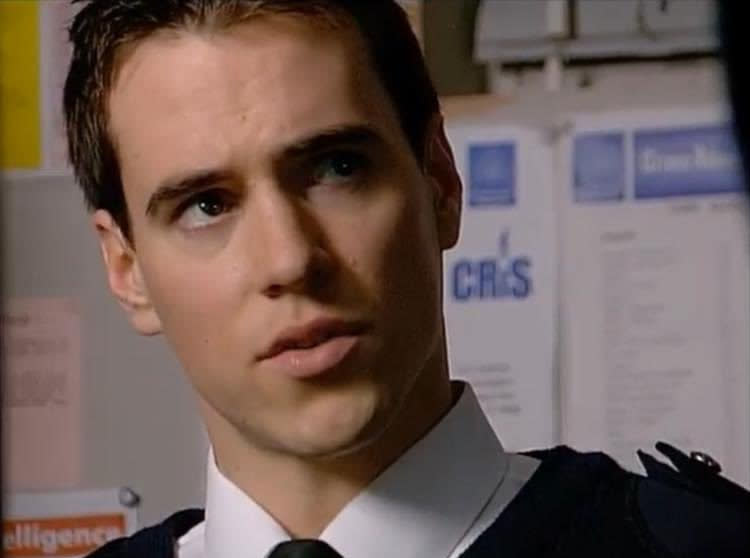 Ben Peyton as PC Ben Hayward in 'The Bill'. (Credit: ITV/Thames Television)