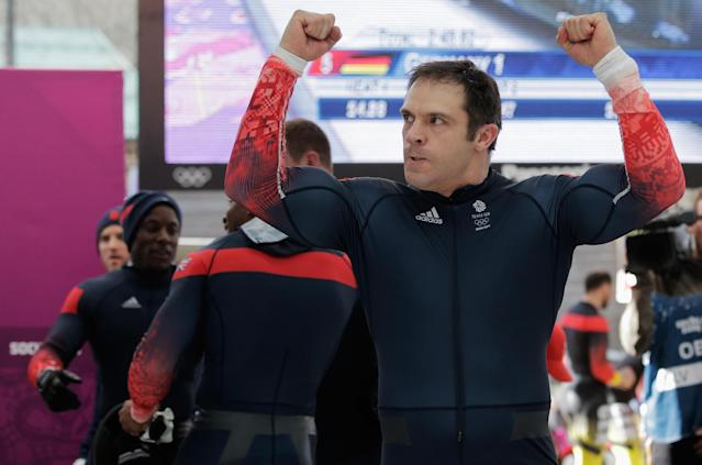 SOCHI, RUSSIA - FEBRUARY 23: Pilot John James Jackson of Great Britain team 1 looks on during the Men's Four-Man Bobsleigh on Day 16 of the Sochi 2014 Winter Olympics at Sliding Center Sanki on February 23, 2014 in Sochi, Russia. (Photo by Adam Pretty/Getty Images)