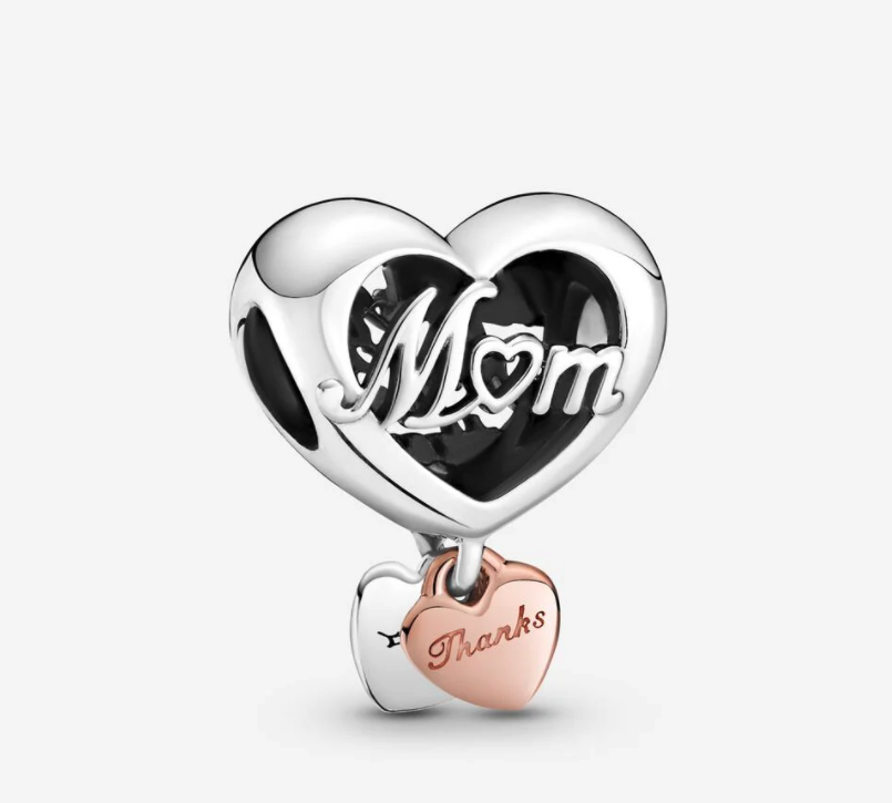 Thank You Mum Heart Charm. Image via Pandora.