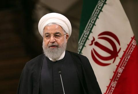 Iran's president, Hassan Rouhani, threatened to breach the nuclear deal next month - Credit: ABEDIN TAHERKENAREH/EPA-EFE/REX