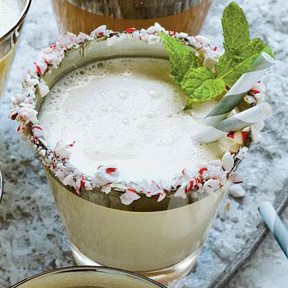"""<p><strong>Recipe: <a href=""""https://www.southernliving.com/syndication/mint-white-chocolate-milk"""" rel=""""nofollow noopener"""" target=""""_blank"""" data-ylk=""""slk:Mint-and-White-Chocolate Milk Punch"""" class=""""link rapid-noclick-resp"""">Mint-and-White-Chocolate Milk Punch</a></strong></p> <p>Mint is a quintessential taste of the holiday season, and this milk punch delivers plenty of minty flavor. <br></p>"""