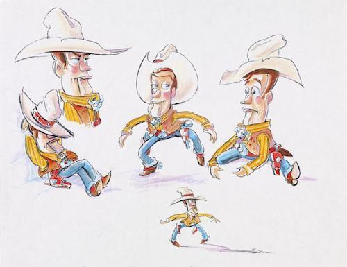"""Woody Concept Art """"Toy Story"""""""