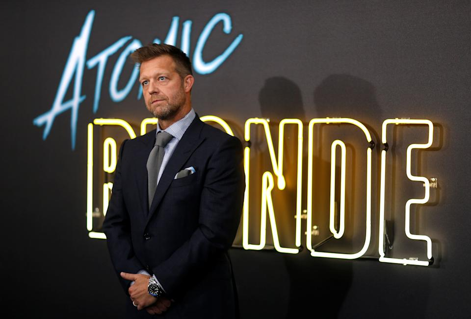 """Director of the movie David Leitch attends the premiere for """"Atomic Blonde"""" in Los Angeles, California, U.S., July 24, 2017. REUTERS/Mario Anzuoni"""