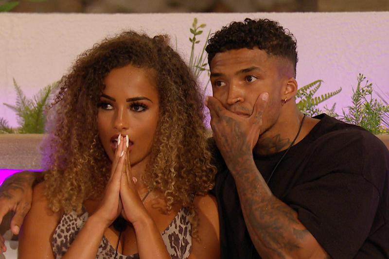 Top couple: Amber Gill and Michael Griffiths (ITV)