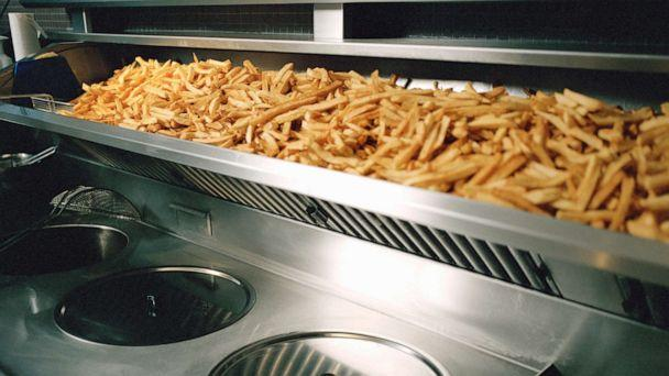 PHOTO: French fries are seen on a shelf above deep fryer in this undated stock photo. (STOCK PHOTO/Getty Images)