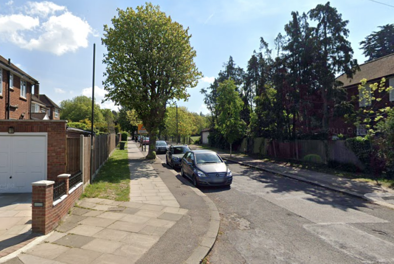 Police were called to reports of a fight in Courtland Avenue (pictured) and later found a man's body. (Google)