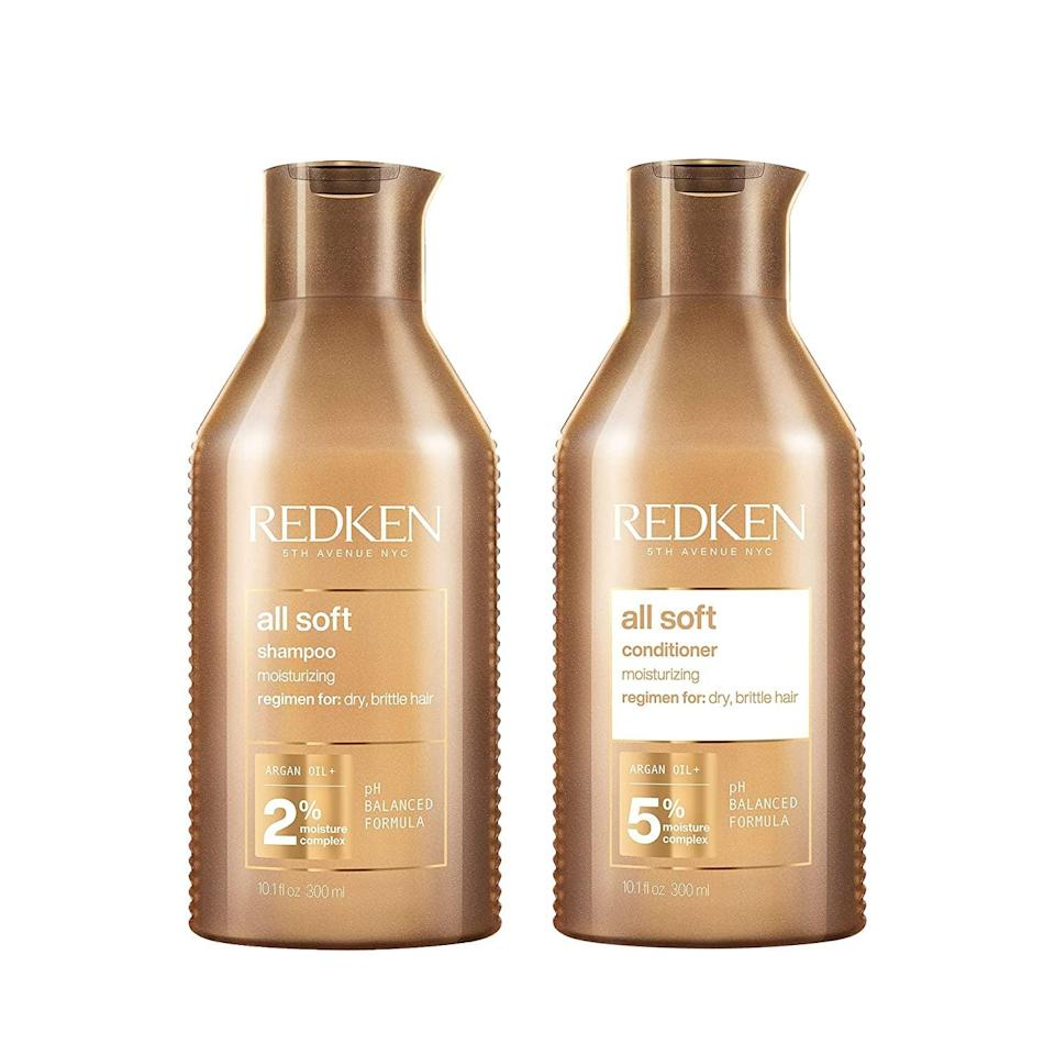 <p>If you have dry and brittle hair, the <span>Redken All Soft Shampoo and Conditioner Set </span> ($28, originally $40) will transform your hair with intense moisture. You'll have softer hair in no time. It's perfect for those who have heat damage. </p>