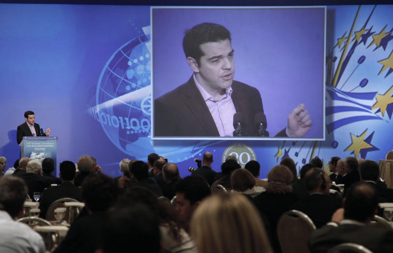 Greek PM pledges first glimmer of recovery in 2013