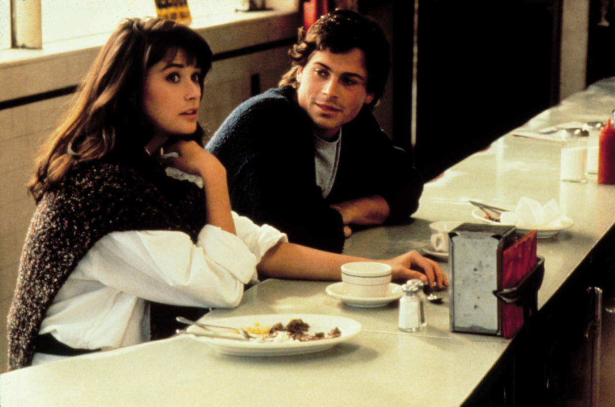 Demi Moore and Rob Lowe star in 'About Last Night,' which is celebrating its 35th anniversary this year. (Photo: Columbia/Tristar/Courtesy Everett Collection)