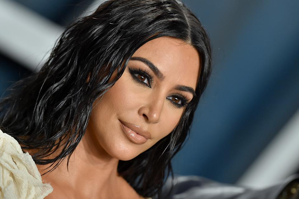 Kim Kardashian West attends the 2020 Vanity Fair Oscar Party hosted by Radhika Jones at Wallis Annenberg Center for the Performing Arts on February 09, 2020 in Beverly Hills, California. (Photo by Axelle/Bauer-Griffin/FilmMagic)