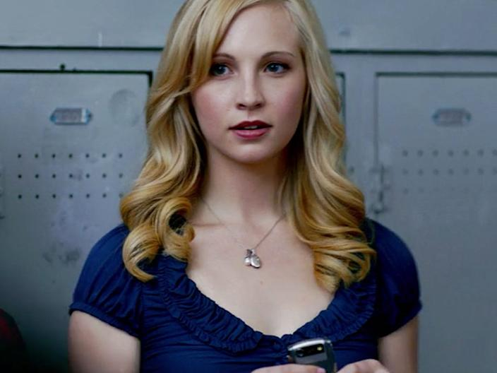 """When Caroline first saw Stefan at school, she was immediately interested in him. <p class=""""copyright"""">The CW</p>"""