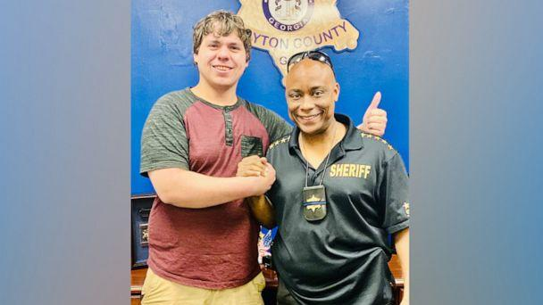 PHOTO: Bread delivery man Joseph Chilton was made an honorary deputy by Clayton County Sheriff Victor Hill after he helped stop an armed robbery at a Hardee's in Georgia. (Clayton County Sheriff's Office)