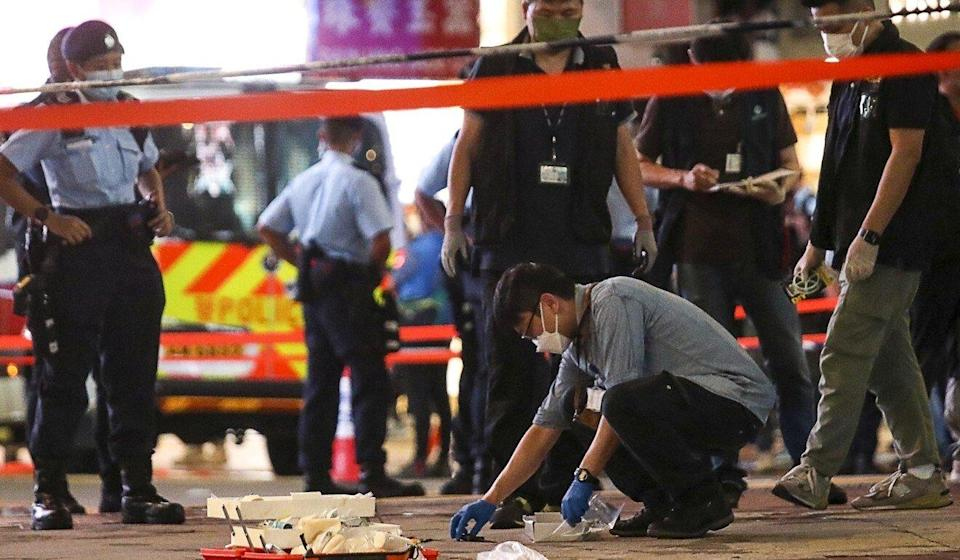 A police officer who was stabbed in Causeway Bay on July 1 was also subject to disrespect from some quarters. Photo: Xiaomei Chen