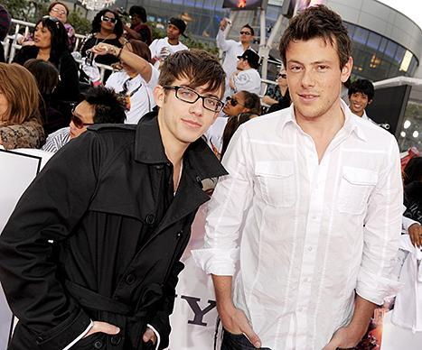 Kevin McHale and Cory Monteith attend an event in 2009