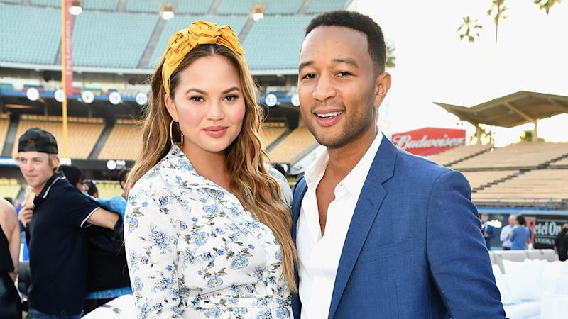 Chrissy Teigen and Baby Miles Introduce John Legend at Families Belong Together March