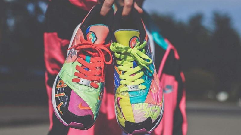 2add19e4e60 This Wild Nike Air Max2 Light Collab Is Bursting With Color