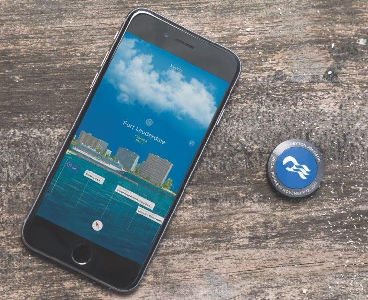 Carnival Cruise OCEAN app and medallion.