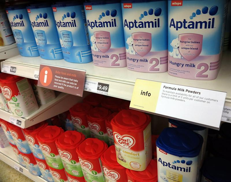 Baby food shortage in Europe due to China demand