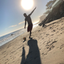"""<p>The former soccer star found himself back to his old habits, kicking around a ball on the beach over the weekend. """"It's been a while,"""" he captioned the pic, but it looks to us like he hasn't missed a step.(Photo: <a href=""""https://www.instagram.com/p/BalDcvKBxqY/?taken-by=davidbeckham"""" rel=""""nofollow noopener"""" target=""""_blank"""" data-ylk=""""slk:David Beckham via Instagram"""" class=""""link rapid-noclick-resp"""">David Beckham via Instagram</a>) </p>"""