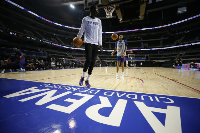 The NBA is visiting Mexico again this season. The league will have an even bigger presence next year. (AP Photo/Rebecca Blackwell)