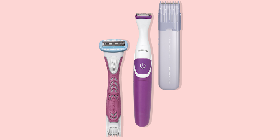 """<p>If you're looking to clean up stray pubic hairs poking out from your bikini line, there are plenty of different <a href=""""http://www.goodhousekeeping.com/beauty/anti-aging/a38588/hair-removal-guide-2/"""" rel=""""nofollow noopener"""" target=""""_blank"""" data-ylk=""""slk:hair removal options"""" class=""""link rapid-noclick-resp"""">hair removal options</a> at your disposal — waxing, sugaring, <a href=""""http://www.goodhousekeeping.com/beauty-products/g31004034/best-epilators/"""" rel=""""nofollow noopener"""" target=""""_blank"""" data-ylk=""""slk:epilating"""" class=""""link rapid-noclick-resp"""">epilating</a> and even <a href=""""https://www.goodhousekeeping.com/beauty/anti-aging/g32585275/best-at-home-laser-hair-removal/"""" rel=""""nofollow noopener"""" target=""""_blank"""" data-ylk=""""slk:lasering"""" class=""""link rapid-noclick-resp"""">lasering</a>. But if you're short on time, money or pain tolerance, good ol' fashioned <strong>shaving or</strong> <strong>trimming is definitely the most accessible (and least intimidating!) method</strong>, whether you're planning to go for a full Brazilian or just clean up the edges.<br></p><p>But getting the best bikini line shave really comes down to using the right tool. Unlike a razor, a <strong>bikini trimmer features floating blades that trim your surface pubic hair without touching your skin</strong>, so it's ideal for sensitive areas and a great choice for those who are looking for a painless experience. It also offers far more precision than a standard razor.</p><p>For decades, the <a href=""""https://www.goodhousekeeping.com/beauty-products/videos/a36899/inside-the-good-housekeeping-beauty-lab/"""" rel=""""nofollow noopener"""" target=""""_blank"""" data-ylk=""""slk:Good Housekeeping Institute Beauty Lab"""" class=""""link rapid-noclick-resp"""">Good Housekeeping Institute Beauty Lab</a> has regularly tested all kinds of hair removal products from <a href=""""https://www.goodhousekeeping.com/beauty-products/g27119507/best-waxing-at-home-kits/"""" rel=""""nofollow noopener"""" target=""""_blank"""" data-ylk=""""slk:waxing kits"""" class=""""link r"""