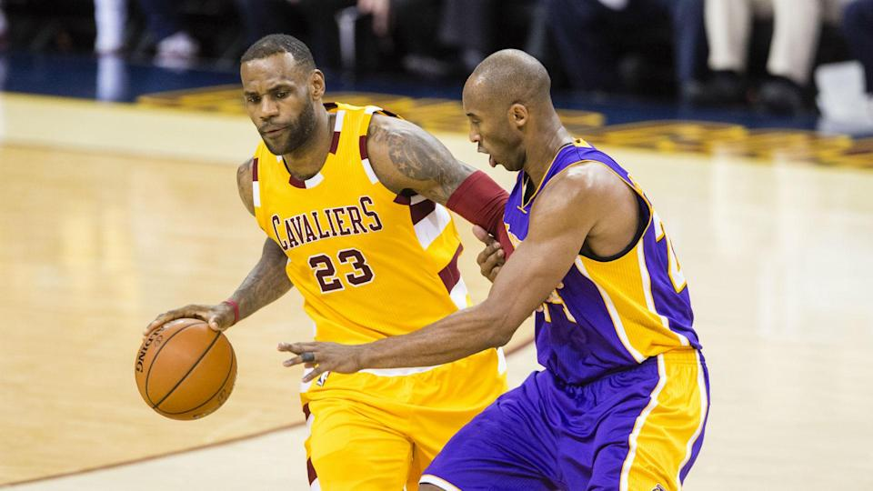 The LeBron James-Kobe Bryant dynamic could be something to watch in L.A. (AP)
