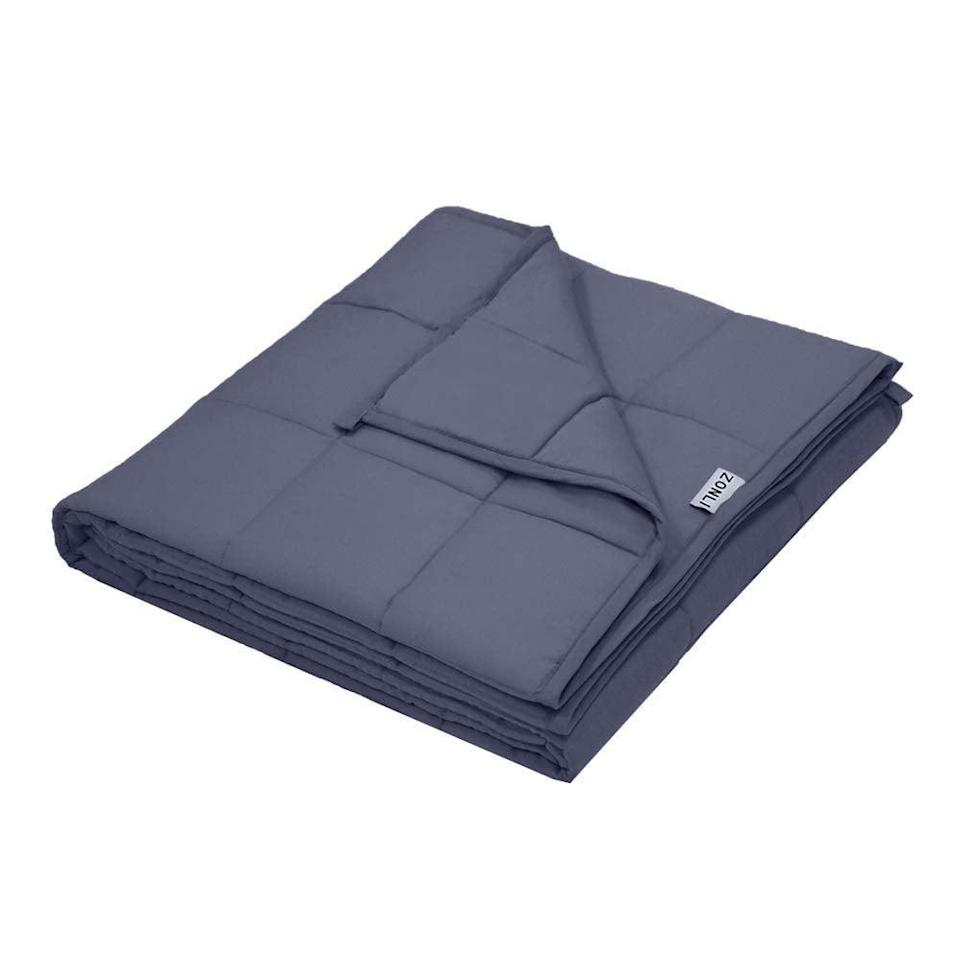 <p>This <span>ZonLi Weighted Blanket</span> ($47, originally $60) will make you feel like you're being enveloped in a stress-free cocoon.</p>