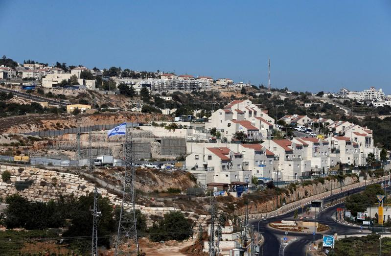 A general view shows the Jewish settlement of Kiryat Arba in Hebron, in the occupied West Bank