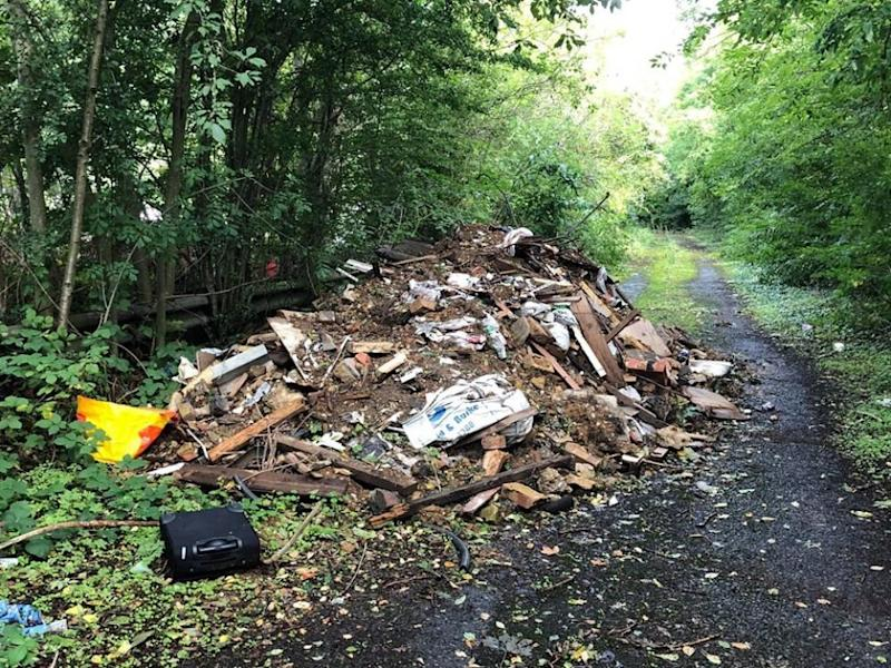 Rubbish illegally dumped in Barnet, London. (ClearWaste)