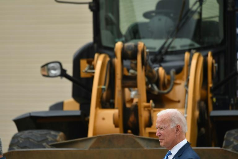 US President Joe Biden is trying to bridge a divide between left and right in his own Democratic party (AFP/Nicholas Kamm)