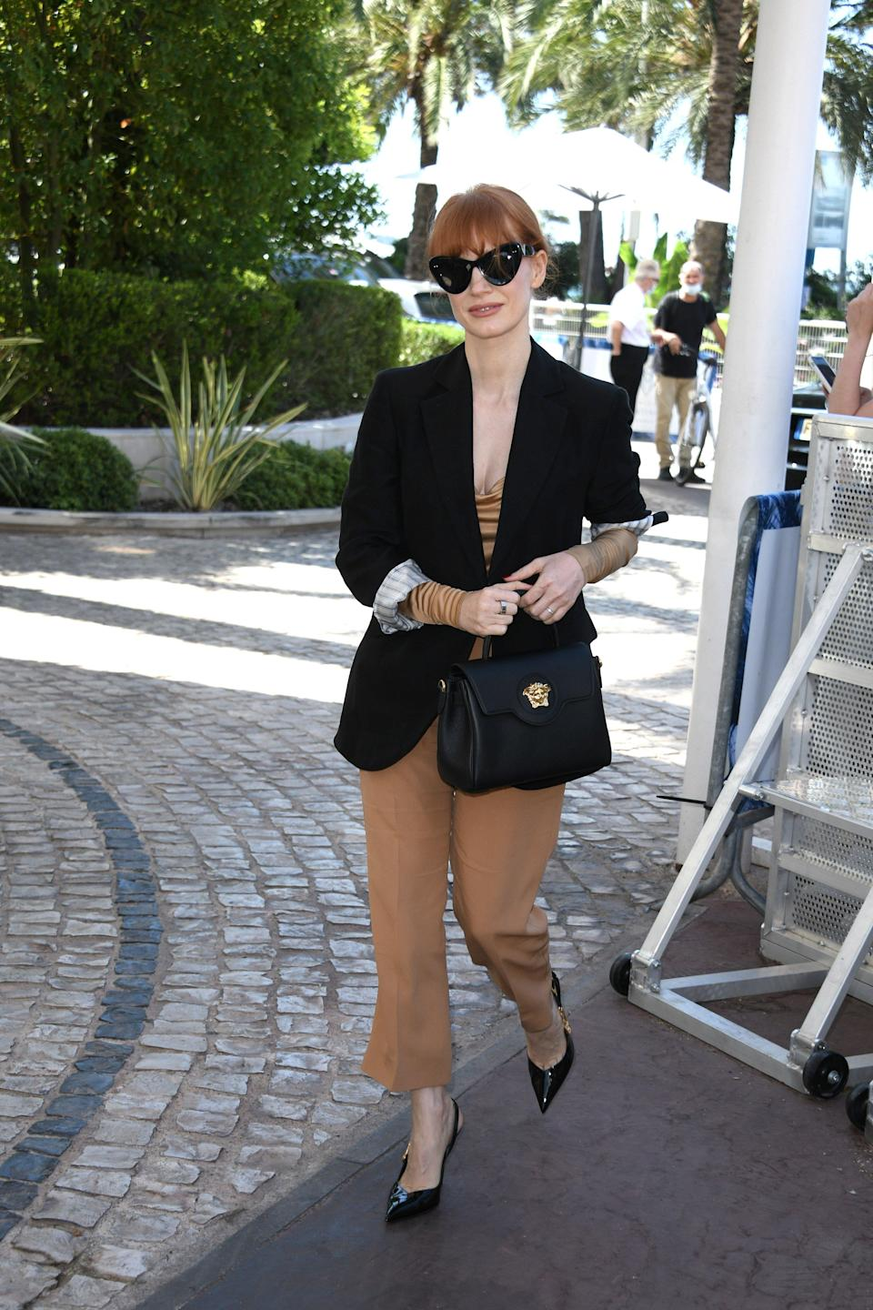 Jessica Chastain in Cannes. - Credit: KILPIN / MEGA
