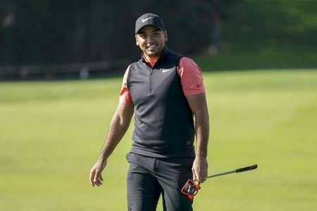 FILE PHOTO: February 9, 2019; Pebble Beach, CA, USA; Jason Day smiles on the fourth hole during the third round of the AT&T Pebble Beach Pro-Am golf tournament at Pebble Beach Golf Links. Kyle Terada/File Photo