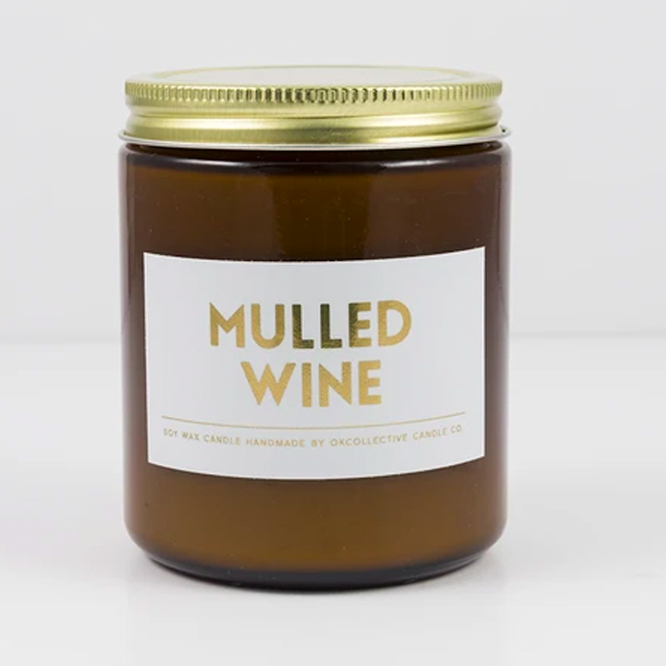 """$18, OKcollective Candle Co.. <a href=""""https://okcollective.myshopify.com/collections/holiday-collection/products/mulled-wine"""" rel=""""nofollow noopener"""" target=""""_blank"""" data-ylk=""""slk:Get it now!"""" class=""""link rapid-noclick-resp"""">Get it now!</a>"""