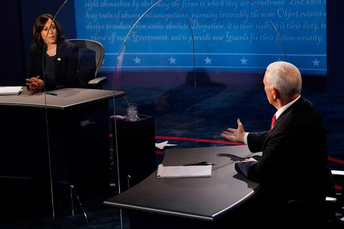 Vice presidential candidates clash in Wednesday's debateGetty Images