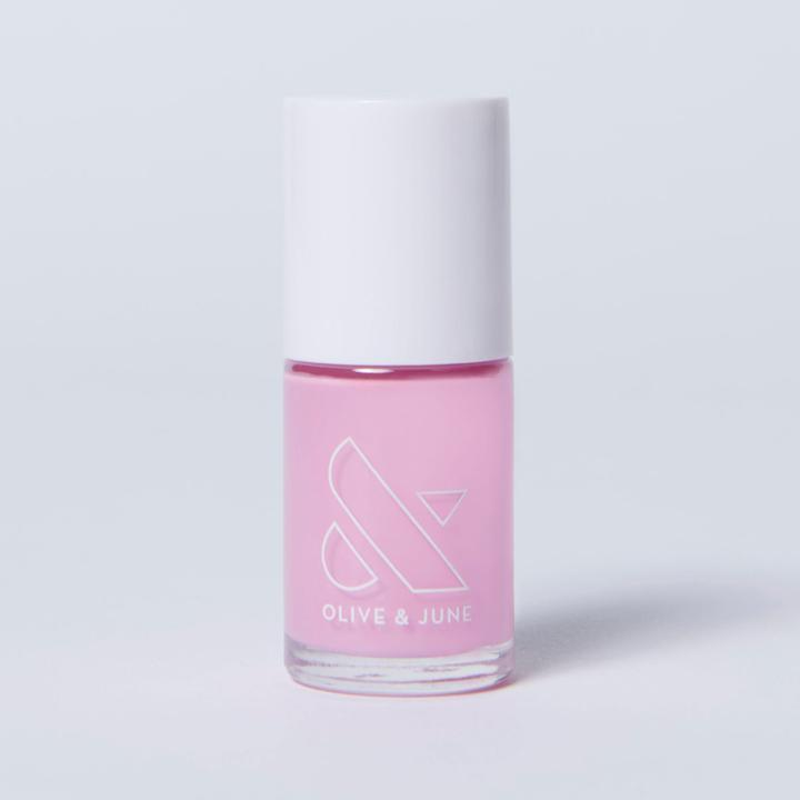 "<h3>Olive & June JM</h3><br>With a calendar packed with Zoom meetings, you'll need a <a href=""https://www.refinery29.com/en-us/best-pink-nail-polish"" rel=""nofollow noopener"" target=""_blank"" data-ylk=""slk:neutral pink polish"" class=""link rapid-noclick-resp"">neutral pink polish</a> to match every sweatsuit — which is where Olive & June's best-selling pink comes into play. This shade, JM (named after jewelry designer <a href=""https://www.instagram.com/jenmeyerjewelry/"" rel=""nofollow noopener"" target=""_blank"" data-ylk=""slk:Jennifer Meyer"" class=""link rapid-noclick-resp"">Jennifer Meyer</a>), is the perfect cool, pale opaque pink.<br><br><strong>Olive & June</strong> 7-FREE NAIL POLISH in JM, $, available at <a href=""https://go.skimresources.com/?id=30283X879131&url=https%3A%2F%2Foliveandjune.com%2Fcollections%2Fnail-polish%2Fproducts%2Fjm"" rel=""nofollow noopener"" target=""_blank"" data-ylk=""slk:Olive & June"" class=""link rapid-noclick-resp"">Olive & June</a>"