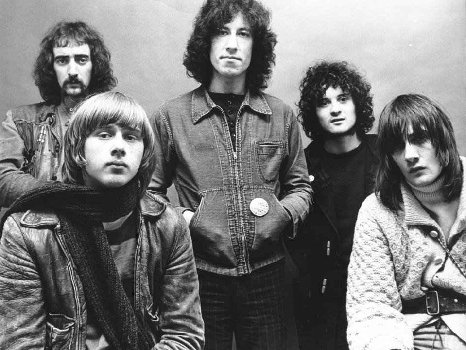 danny kirwan, fleetwood mac, jeremy spencer, john mcvie, mick fleetwood, peter green of Fleetwood Mac 1969 during Music File Photos - The 1960s - by Chris Walter